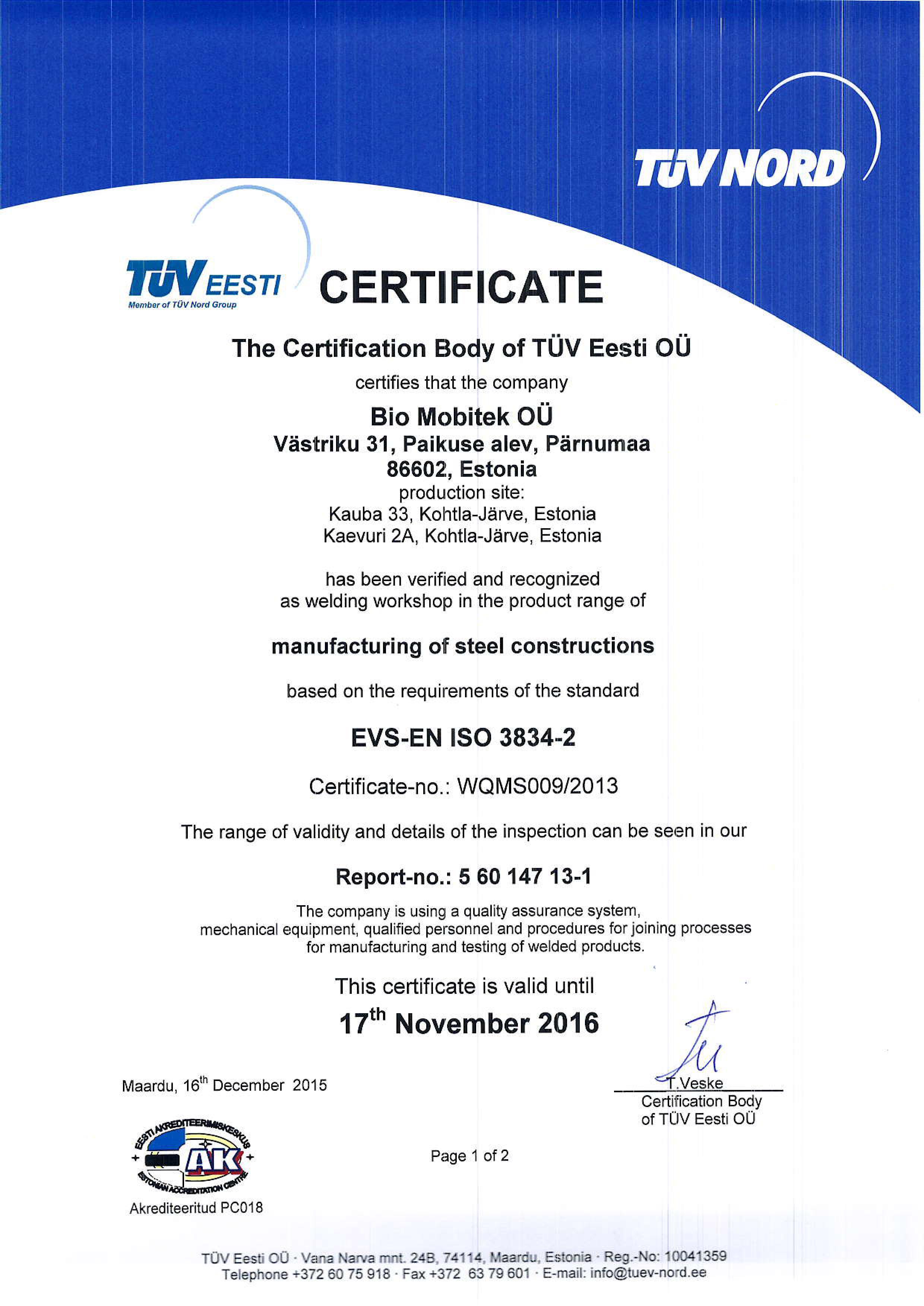 ISO3834 Cert_Bio Mobitek OÜ_1
